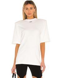 Off-White c/o Virgil Abloh Футболка Shoulder Pad В Цвете Белый & Черный