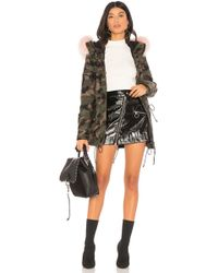 Sam. | Camo Mini Hudson Jacket With Raccoon Fur | Lyst