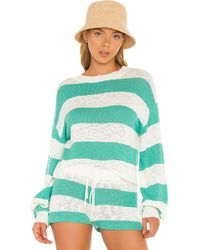 Beach Riot Свитер Ava В Цвете Waterfall Stripe - Многоцветный