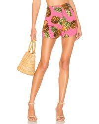 superdown Короткие Шорты Lucia В Цвете Pink Pineapple - Pink. Размер M (также В Xxs). - Розовый