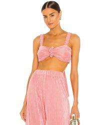 DANNIJO Топ Scrunchie В Цвете Pleated Pink - Розовый