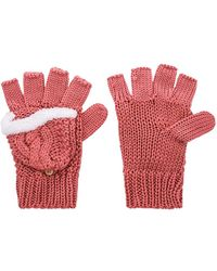 Michael Stars - Show Me The Cashmere Popover Mitt In Rose. - Lyst