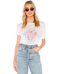 Wildfox - Baroque Roses Tee In White - Lyst