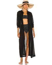 Mara Hoffman Платье-рубашка Cinzia В Цвете Черный