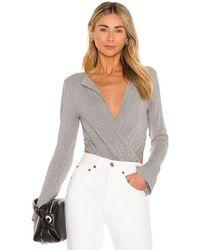 L'academie Lapel Bodysuit - Grey
