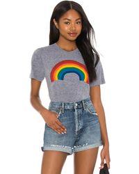 Aviator Nation Rainbow グラフィックtシャツ - グレー