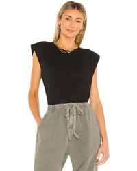 7 For All Mankind Shoulder Pad Tee - Lila