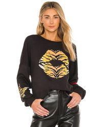 Lauren Moshi Sierra Tiger Lip Sweatshirt - Black