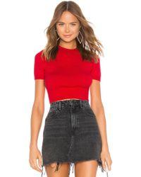 LPA T Shirt Sweater ショートスリーブセーター - レッド