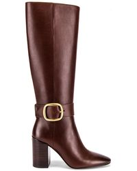 COACH Evelyn Buckle Boot - Brown