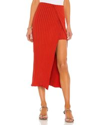 Lovers + Friends Layered Midi Skirt - Rot