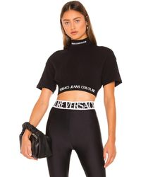 Versace Jeans Couture トップ - ブラック