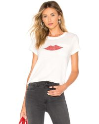 Rag & Bone - Lips Tee In White - Lyst