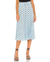 Faithfull The Brand Luda Midi Skirt - Blue