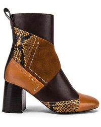 See By Chloé Howl Patchwork Bootie - Brown