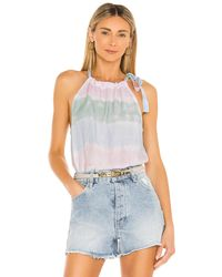 Bella Dahl Tie neck halter top - Multicolor