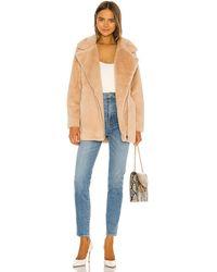 Apparis Rose Faux Fur Coat - Mehrfarbig