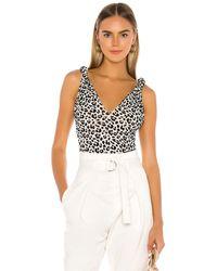 MAJORELLE Боди Kiana В Цвете Ivory Leopard - White. Размер L (также В M,xl). - Белый