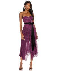 Alice + Olivia Bree Ruffle Handkerchief Dress - Purple