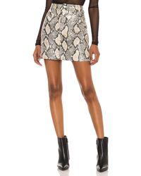 Blank NYC Faux Leather Bodycon Mini Skirt - Grey