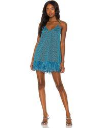 Oséree Lumire Plumage ドレス - ブルー