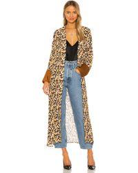 House of Harlow 1960 Халат Leopard В Цвете Коричневый Леопардовый