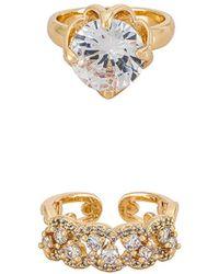 8 Other Reasons Rhinestone Ring Set - Metallic