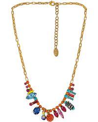 Elizabeth Cole Ожерелье Lilou В Цвете Мульти - Металлик