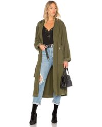 GRLFRND - Donna Trench Coat In Olive - Lyst
