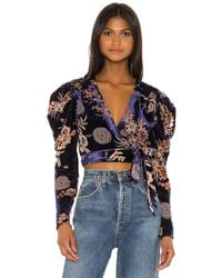 House of Harlow 1960 X Revolve Indie Blouse - Blue