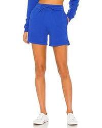 Frankie's Bikinis Burl Sweat Short - Blue