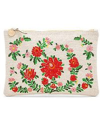 Clare V. - Mexican Embroidered Flat Clutch - Lyst
