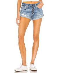 Free People Romeo Rolled Cut Off Short - Blue