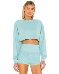Alo Yoga Double Take Pullover - Blau