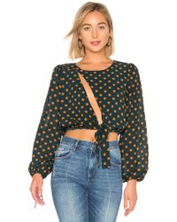House of Harlow 1960 - X Revolve Ali Top In Turquoise - Lyst