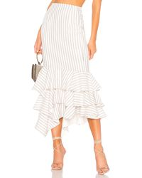 Nbd Ayesha Midi Skirt - Weiß