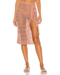 MAJORELLE Adair Crochet Skirt - Pink