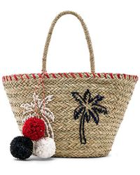 Sundry - Palm Trees Straw Tote In Tan. - Lyst