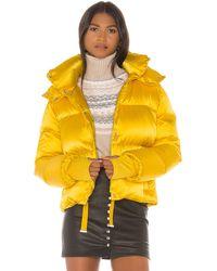 Sam. Satin Sydney Puffer Jacket - Yellow