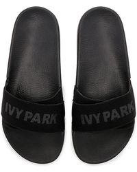 Ivy Park Mules Logo Tape - Noir