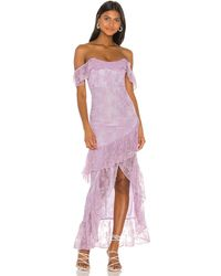 Lovers + Friends Rosewater Lace Gown - Purple