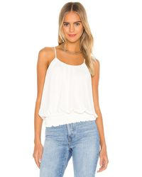 Krisa Camiseta tirantes smocked - Blanco