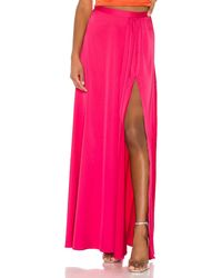 Nbd Page Long Skirt - Pink