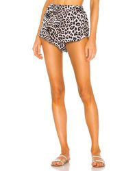 Mikoh Swimwear - Шорты-джоггеры Hawi В Цвете Леопард. Размер 1/s (также В 3/l). - Lyst