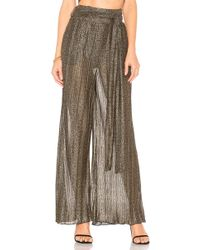 House of Harlow 1960 - X Revolve Drea Pant In Metallic Gold - Lyst