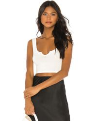 Lovers + Friends Tara Tank - White