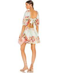 Zimmermann Платье Mae В Цвете Мятный Цветочный - Многоцветный