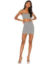 superdown Claire Houndstooth Skirt Set - Black