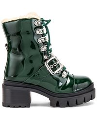 Jeffrey Campbell Checked Boot - Green