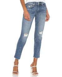 Rag & Bone - Dre low rise slim boyfriend - Lyst